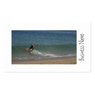 Desnatando o surf cartoes de visita