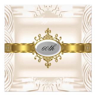 Desnate o 60th creme do convite de aniversário
