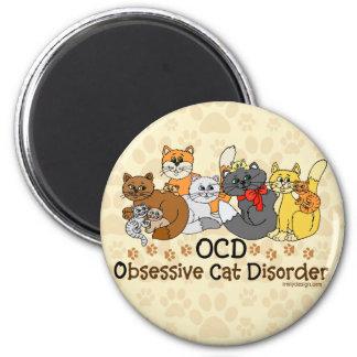 Desordem obsessiva do gato de OCD Imã