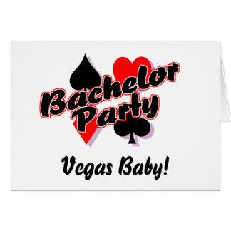 Despedida de solteiro do bebê de Vegas Cartão Comemorativo