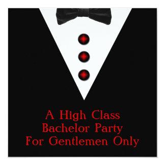 Despedida de solteiro dos cavalheiros somente convite personalizados
