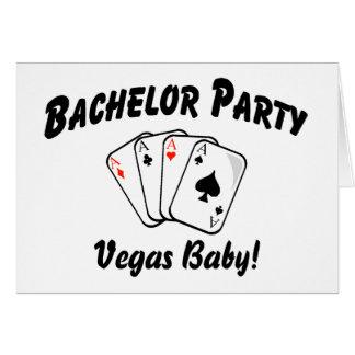 Despedida de solteiro Las Vegas Cartão Comemorativo