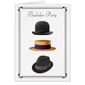 Despedida de solteiro legal do chapéu #2 de Fedora Cartão Comemorativo