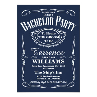 Despedida de solteiro na moda da tipografia do convite 12.7 x 17.78cm
