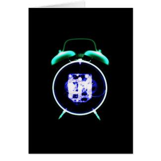 Despertador antiquado da visão do raio X - origina Cartões