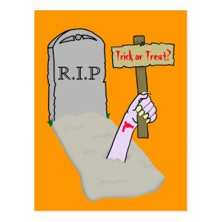 Despertando o modelo do cartão do zombi cartão postal