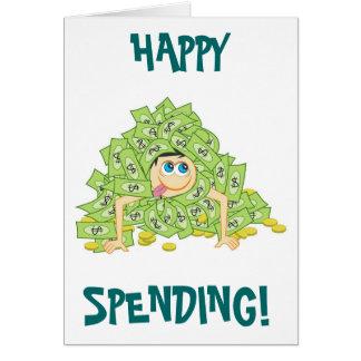 Despesa feliz cartão