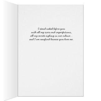 Despido antes de você: Cartão do amor