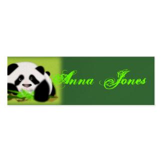 Destino animal bonito da paz da folha da videira d cartao de visita