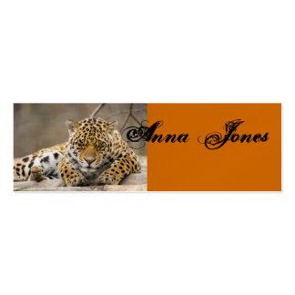 Destino animal da paz do teste padrão do leopardo  cartoes de visitas