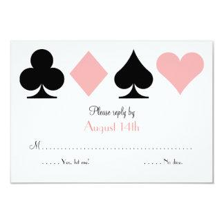Destino cor-de-rosa Las Vegas que Wedding o cartão
