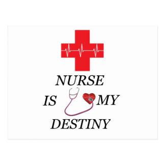 Destino da enfermeira cartão postal