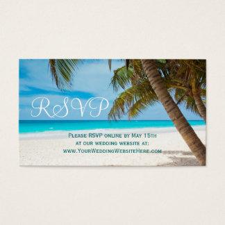Destino da praia das palmeiras que Wedding cartões