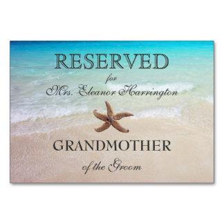 Destino da praia que Wedding cartões reservados do