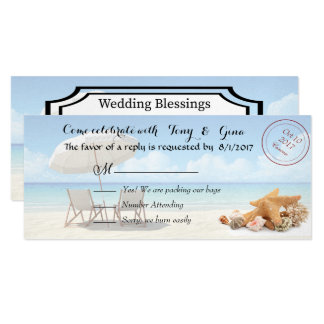 Destino de Cancun que Wedding cartões de RSVP