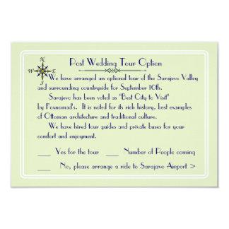 Destino global que Wedding a excursão opcional Convite 8.89 X 12.7cm