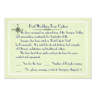 Destino global que Wedding a excursão opcional RSV Convite Personalizado