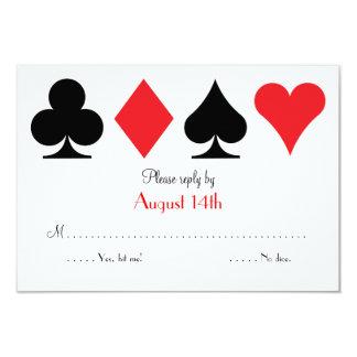 Destino Las Vegas que Wedding o cartão de resposta
