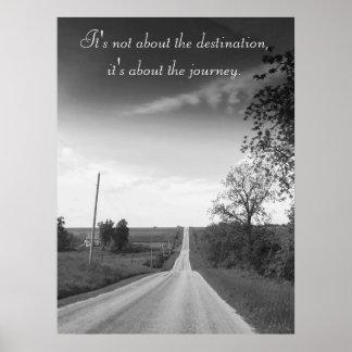 Destino, poster inspirado das citações da viagem