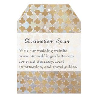 Destino rústico do romance   que Wedding o mosaico Convite 12.7 X 17.78cm