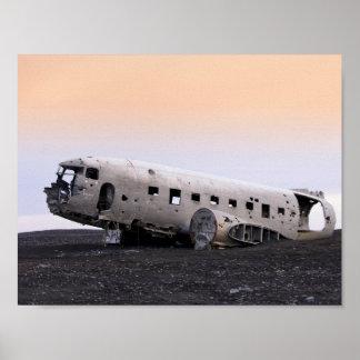 Destruição dos aviões pôster