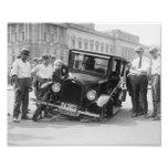 Destruição quebrada preta & branca EUA 1923 do vin Fotografia