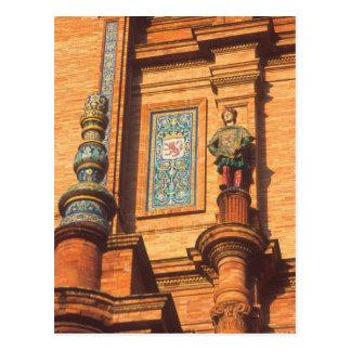Detalhe cerâmico da estátua na plaza de Espana den Cartao Postal