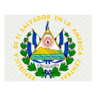 Detalhe da brasão de El Salvador Cartoes Postais