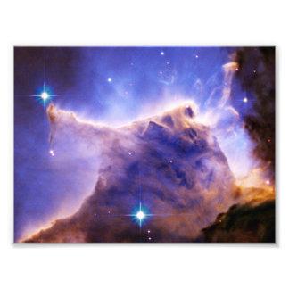 Detalhe da coluna da nebulosa de Eagle (Hubble) Impressão Fotográficas