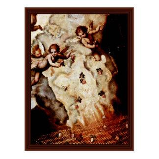 Detalhe da Maria Madalena por Zuccari Federico Cartao Postal