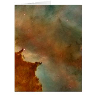 Detalhe da nebulosa de Carina Cartão