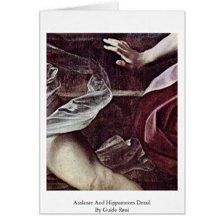 Detalhe de Atalante e de Hippomenes por Guido Reni Cartao