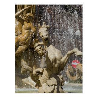 Detalhe de d'Artemide de Fontana, Ortigia Cartão Postal