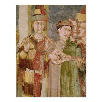 Detalhe de músicos da vida do St. Cartao Postal