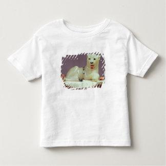 Detalhe de tampa de um frasco do unguent com uma camiseta infantil