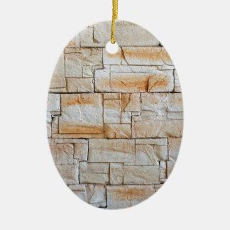Detalhe de uma parede decorativa de azulejos da ornamento de cerâmica oval