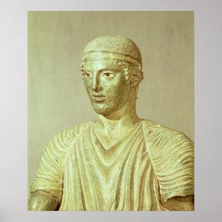 Detalhe do Charioteer de Delphi, c.470 BC Poster