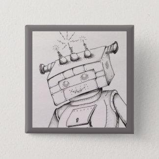 Detalhe do desenho do robô, pino de 2 polegadas bóton quadrado 5.08cm