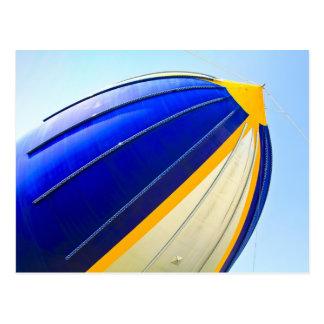 Detalhe do dirigível cartão postal