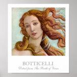 Detalhe do nascimento de Venus por Botticelli Pôsteres