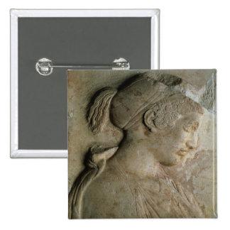 Detalhe do stela de Philis, de Thasos, c.5t Pins