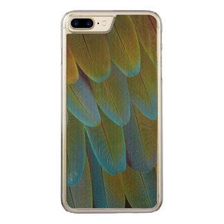 Detalhe do teste padrão da pena do papagaio do capa iPhone 8 plus/ 7 plus carved