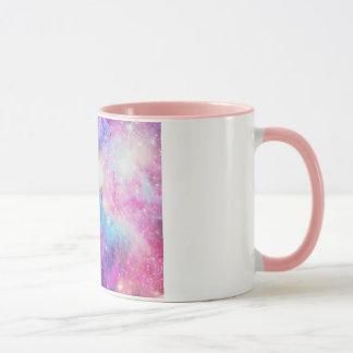 Detalhe rosa de COM de Caneca Galáxia