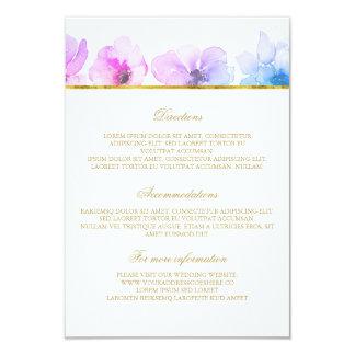 Detalhes azuis roxos do casamento - informação convite 8.89 x 12.7cm