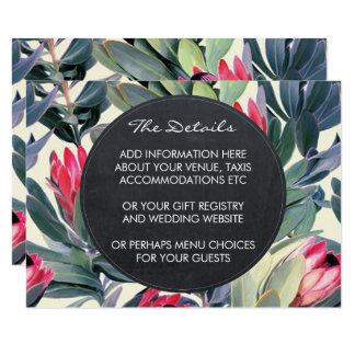 Detalhes do casamento e palma tropical do cartão