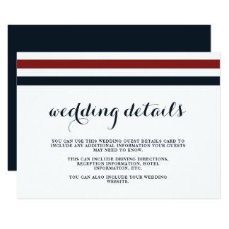 Detalhes do convidado do vermelho azul e do branco convite 8.89 x 12.7cm