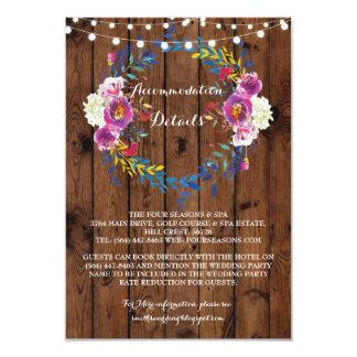 Detalhes florais dos cartões de casamento da