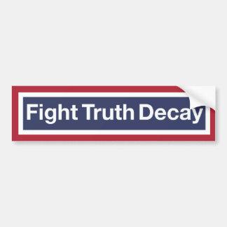 Deterioração da verdade da luta adesivo de para-choque