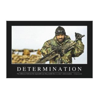 Determinação: Citações inspiradas Impressão Em Canvas