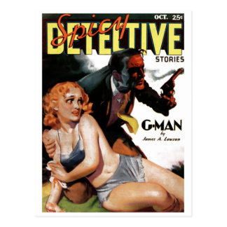 """Detetive picante - cartão do """"G-Man"""""""